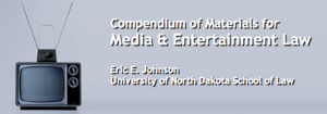 Banner for compendium of materials for media and entertainment law