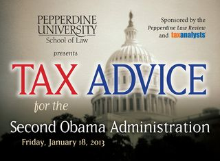 Tax Advice for the Second Obama Administration
