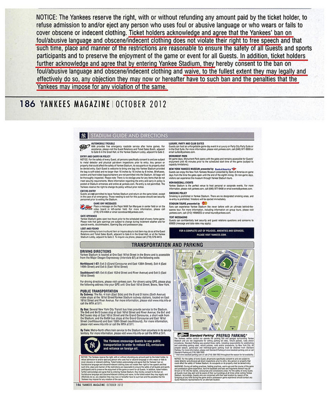 Yankees Ticket Policy